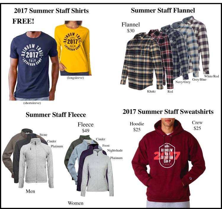 Staff Clothing 2017