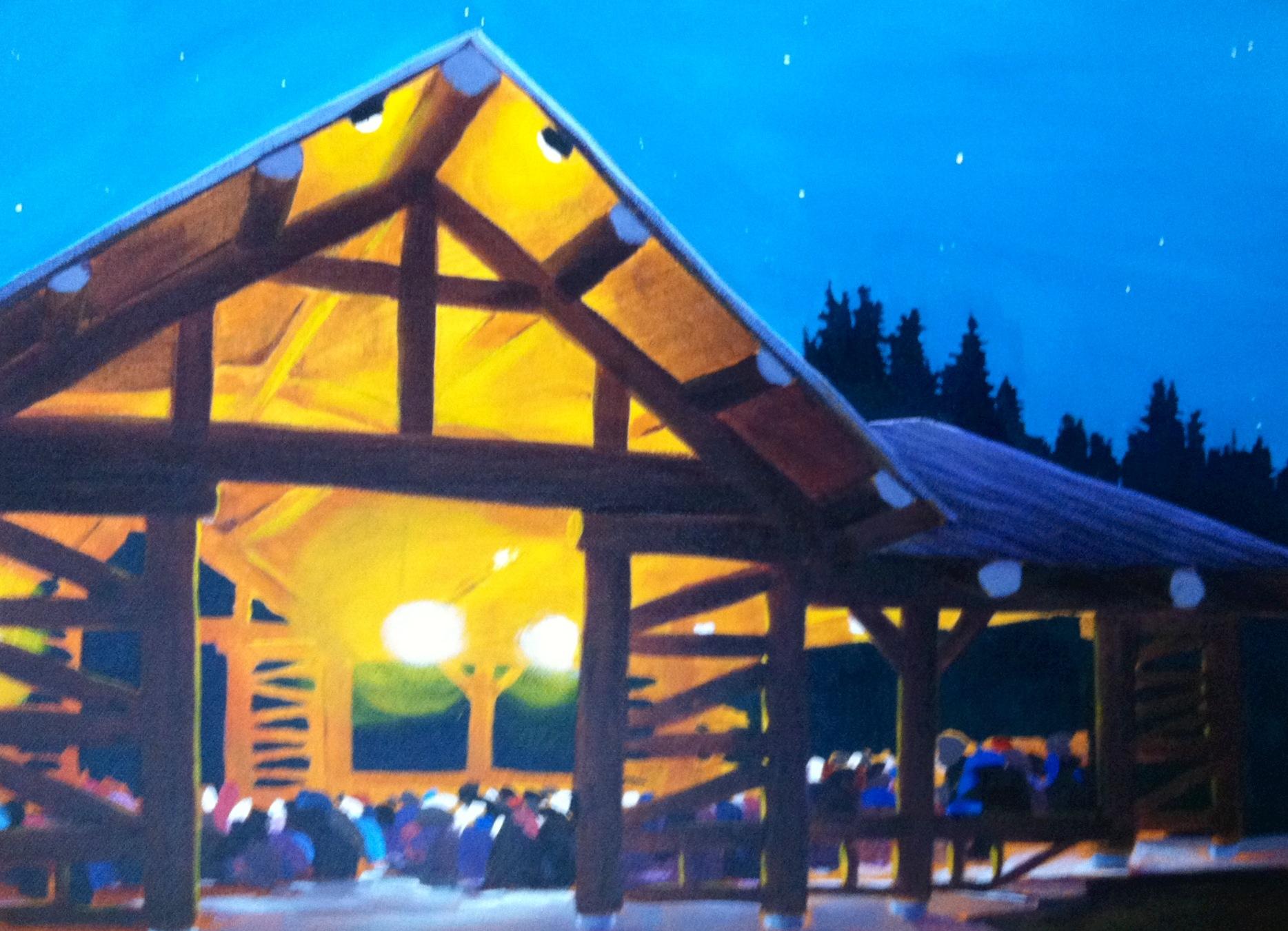 Pavilion at Night
