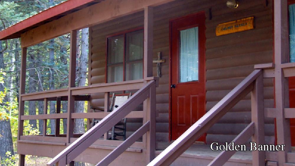 Cabin- Golden Banner