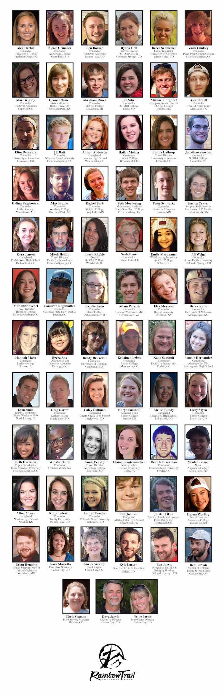 2015 Summer Staff Photos